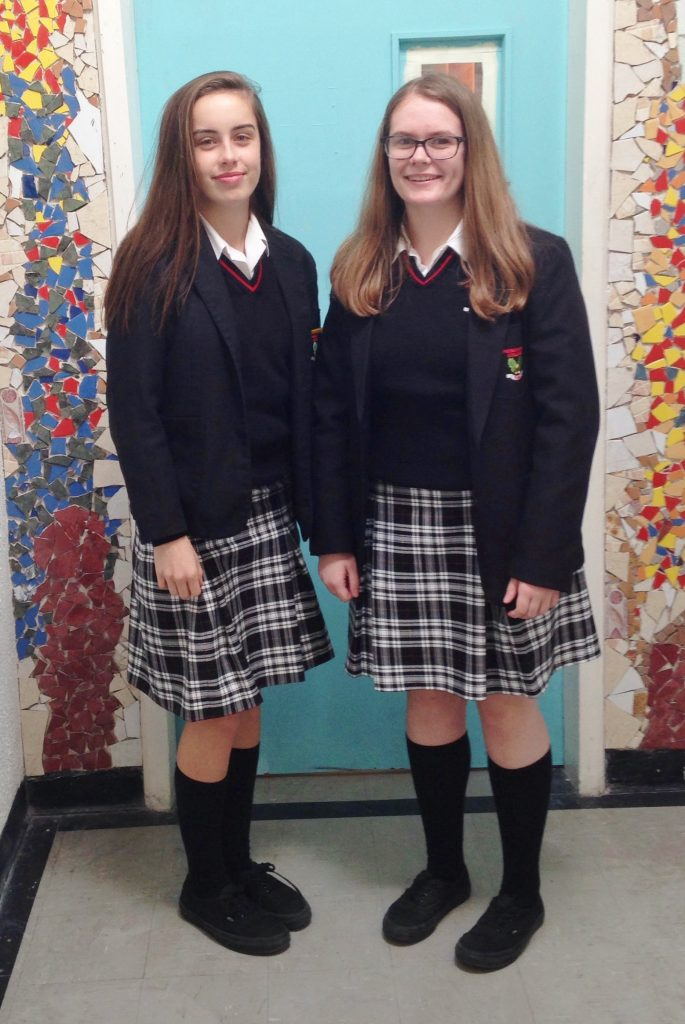 Some of our Senior students wearing the Senior Uniform