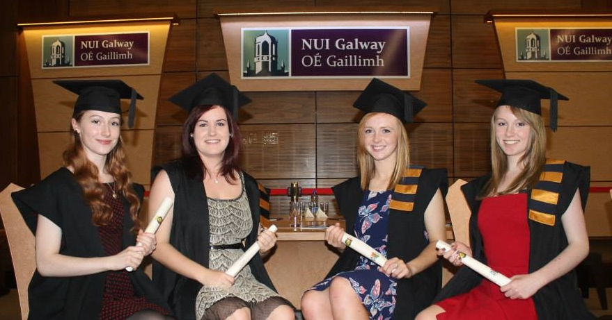 Pres Currylea Students recieving their Youth Leadership & Community Action Certificates at NUIG Graduation Day