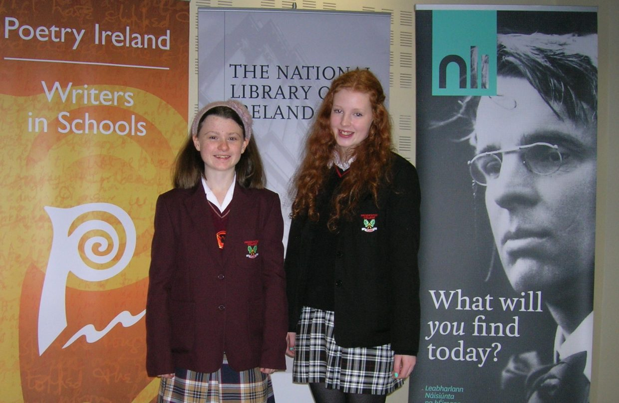 Claire McGill and Katie McCarthy semi-finalists of the Poetry Aloud Competition