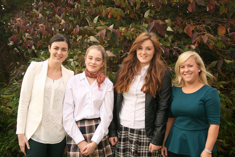 Una O Brien (musical director), Lainey Harte (Sandy), Megan Power (Danny), Clodagh Brennan (choreographer).
