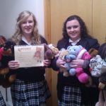 The Transition Year students with some of the teddies ready for their Christmas Market Stall