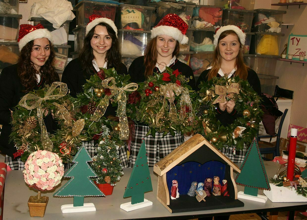 Transition Years have all their products ready for the Christmas Market
