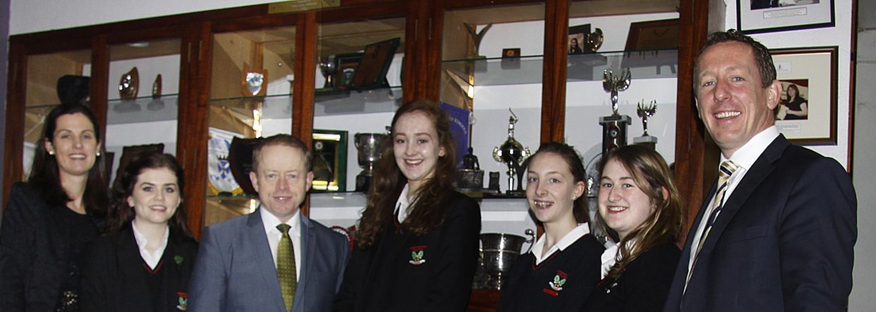 Minister Ciaran Cannon visits Currylea