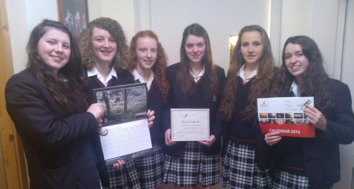 Transition Year Students help create Western Alzheimer's Fundraising Calendar