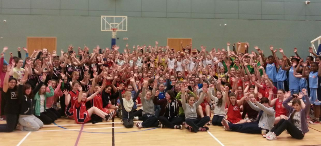 The 1st years who took part in the basketball fun blitz at NUIG Galway