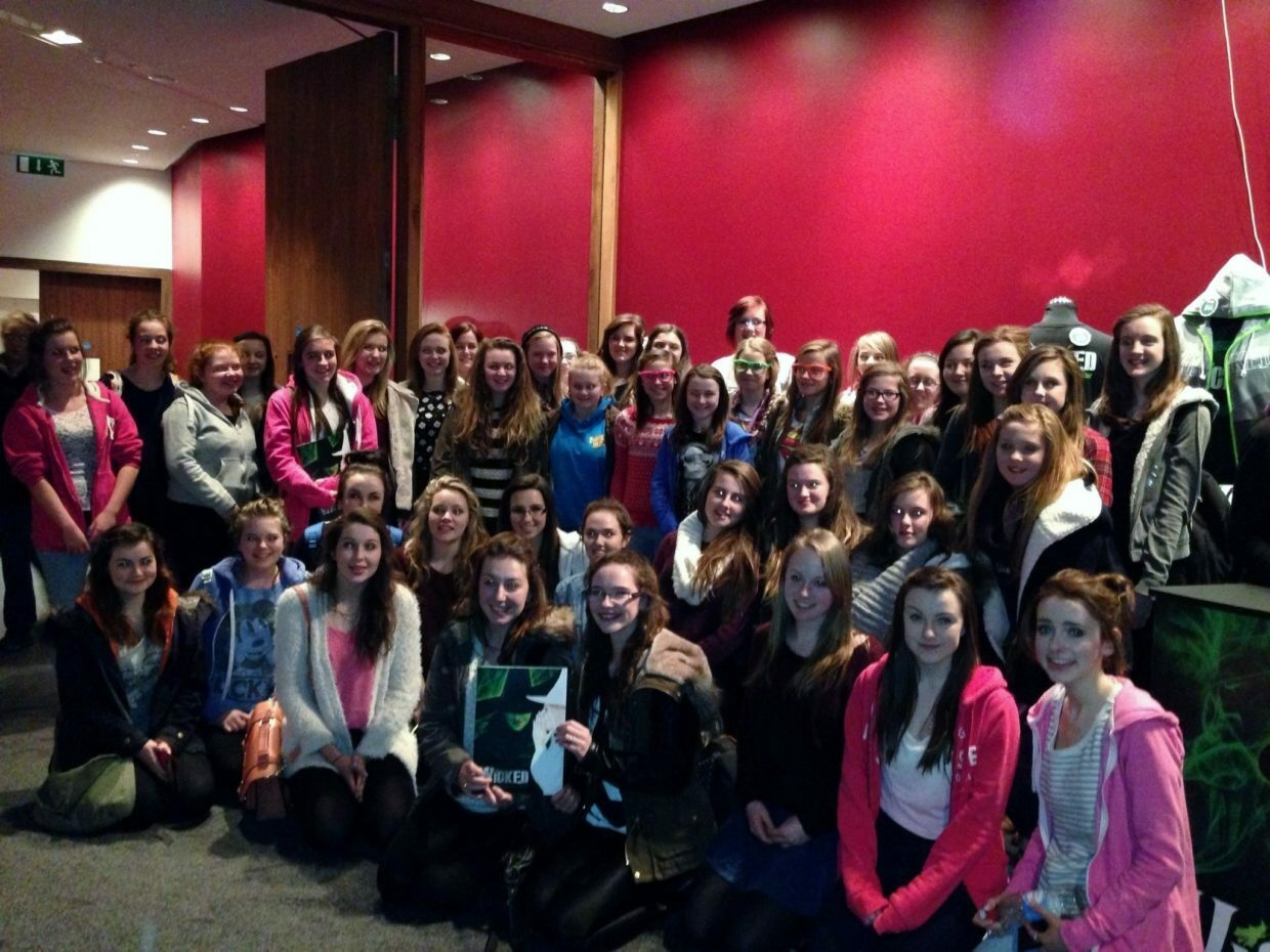 "The cast members of the school's recent production ""Grease"" at the Bord Gáis Energy Theatre in Dublin to see the award winning production of ""Wicked""."