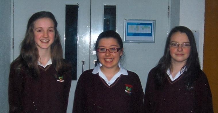 Roisin Fahy, Emma Kenny and Jacqui Conway