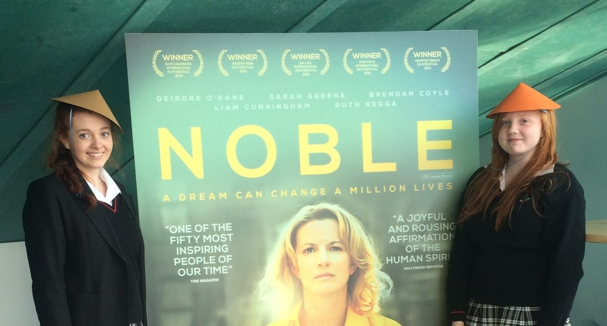 Transition Year students attending the screening of the film Nobel