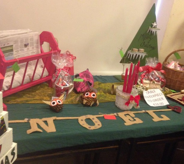 Some of the handmade craft products for sale in the Christmas pop up shop