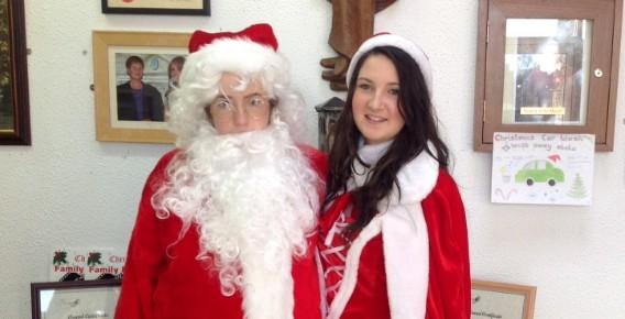 Santa & Ms Claus visit Currylea