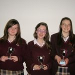 Our Junior Debating Team, who were runners-up in the Regional Final of the Confederation of women NUIG Graduates, Public Speaking Competition, held in University College, Galway.
