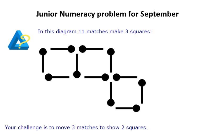 Junior Numeracy problem for September