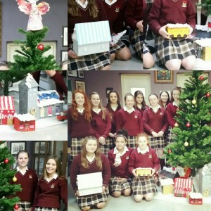 The beautiful Christmas village created by our First Year Art students