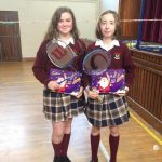 1st year and 2nd winners of the badminton activities Aoife O'Malley & Ciara O'Callaghan.