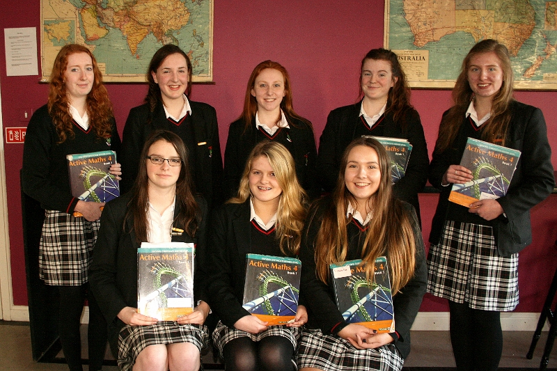 Back row (Left to Right): Hannah Byrne, Emily Donnelly, Casey Crowe, Mary Newell, Melissa Brogan Front row (Left to Right): Jacqui Conway, Jade Halian, Ciara Fox