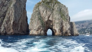 Some of the spectacular views from the boat trip around the Isle of Capri
