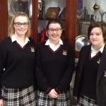 Our successful Debating and Public speaking team Emma Kenny, Jackie Conway and Feja Dooley
