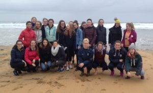 The Fifth year Geography students about to explore the large sandy beach and sand dunes at Fanore, Co. Clare.