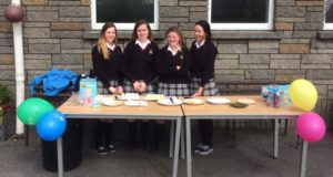 The girls all set for the Ice Cream Fundraiser in aid of Down Syndrome Ireland