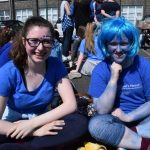 Green-School's Committee Members relaxing after taking part in a 'Walk for Water' event