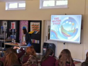 Our First Year students got the opportunity to learn about the process of the 'Water Cycle' in our natural environment. Irish Water Rep Marita McDonald delivers her presentation to the girls.