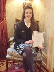 Congratulations to Roisin Fahy who won and individual best speaker award at the BPW All Ireland Public Speaking competition.