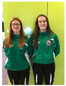 Jadzia Murphy & Shauna Flynn who competed in the karate IMAF European championships in the Netherlands.
