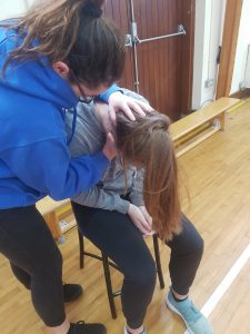 Transition's year students doing their First Aid training