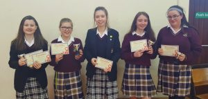 Our champions this year were Ruby Mahon, Megan McCabe, Toma Cesiunaite, Claire McGill, Aislibg Dowd and Casey O'Grady. Félicitations les filles !