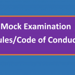 Mock Examination – Rules/Code of Conduct