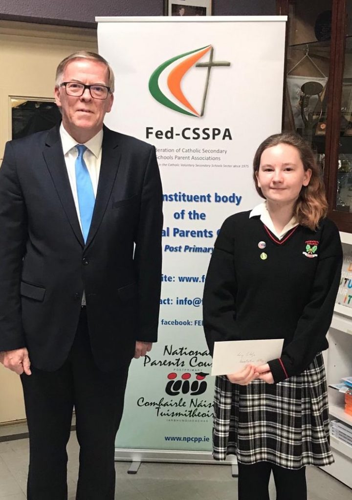Lucy Scholze, who was the winner of the Senior Category National essay competition