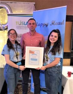Congratulations to last years TY students, Ciara McGuire & Emma Madden on their involvement in the creation of the Happy Head App for young people.