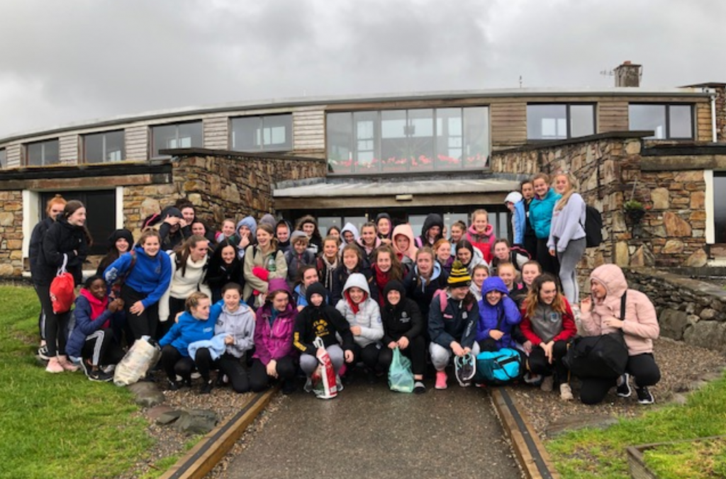 Transition Year 2019 is starting with smiles and merriment as the girls their first day at Killary Adventure Centre