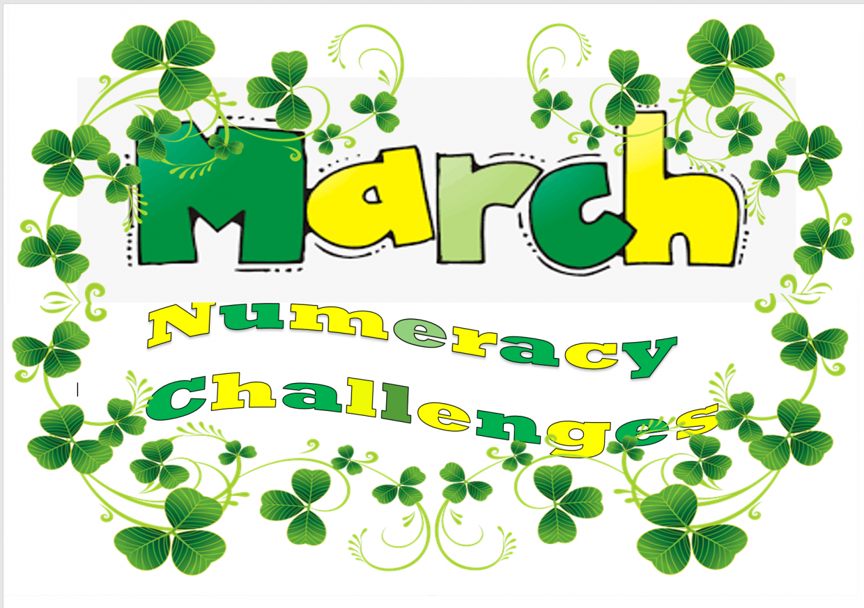 The numeracy challenges for March