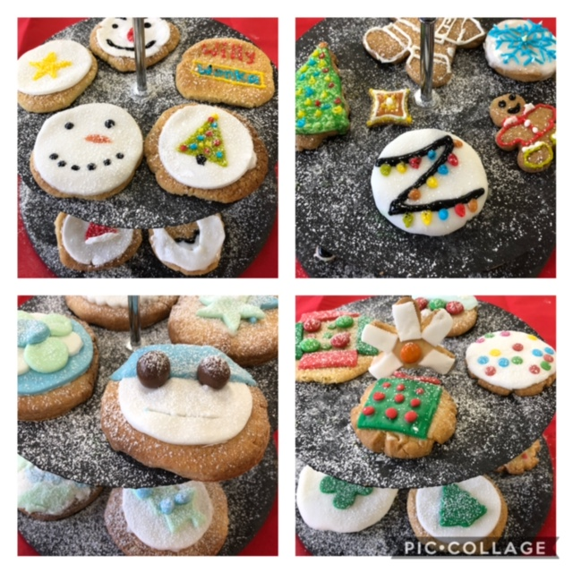 Christmas cookies decorated by 1st year students