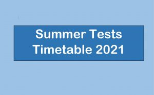 Summer Exam Timetable